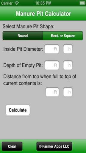 Manure Pit Calculator | Agriculture Apps | Farms com